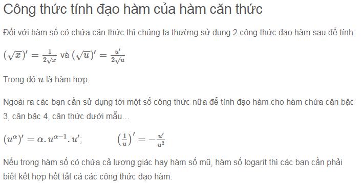 cong thuc dao ham can u